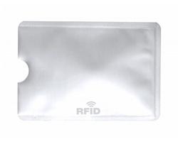 Kovový obal na kreditní karty BECAM s RFID ochranou - bílá