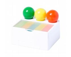 Sada zvýrazňovačů a lístků na poznámky BOLINGS - bílá / vícebarevná