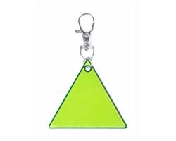 Plastový reflexní přívěsek na klíče KOREFLEC - žlutá