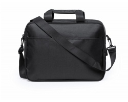 Taška přes rameno BALDONY s polstrovanou kapsou na notebook - černá