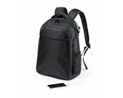 Polyesterový batoh HALNOK s prostorem na notebook - černá
