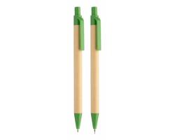 Sada psacích potřeb BISLAK z recyklovaného papíru - zelená / přírodní