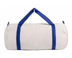 Bavlněná sportovní taška SIMARO - modrá / přírodní