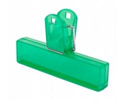 Plastový klip na uzavření obalu FLINT - zelená