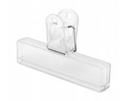 Plastový klip na uzavření obalu FLINT - transparentní
