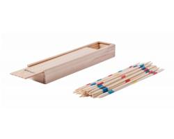 Dřevěná hra MIKADO v dřevěné krabičce - vícebarevná