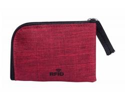 Polyesterová peněženka VATIEN s RFID ochranou - červená