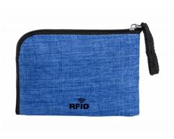 Polyesterová peněženka VATIEN s RFID ochranou - modrá