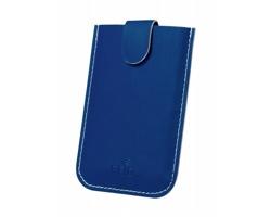 Obal na kreditní karty SERBIN z umělé kůže - modrá