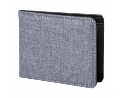 Polyesterová peněženka RUPUK s RFID ochranou - šedá