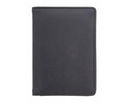 Koženkový obal na kreditní karty BRIGIT s RFID ochranou - černá