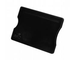 Plastový obal na kreditní karty RANDY s RFID ochranou - černá