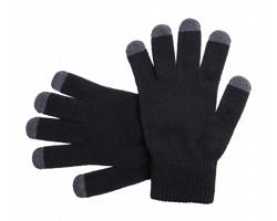 Zimní rukavice TELLAR pro dotykové displeje - černá / šedá