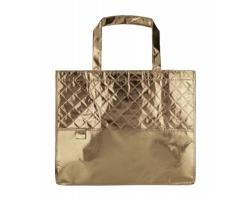 Metalická plážová taška MISON - zlatá
