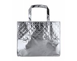 Metalická plážová taška MISON - stříbrná
