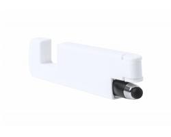 Plastový skládací stojánek na mobil KILORO - bílá / černá