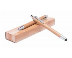 Sada psacích potřeb z bambusu HELEON - přírodní
