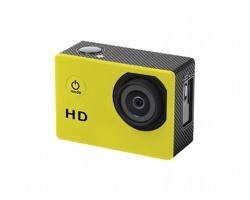 Plastová sportovní kamera KOMIR s LCD displejem - žlutá