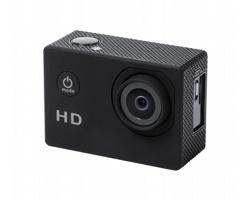 Plastová sportovní kamera KOMIR s LCD displejem - černá