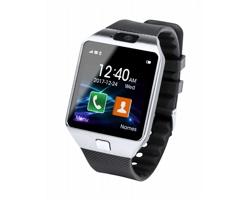 Kovové chytré hodinky HARLING se silikonovým páskem - černá