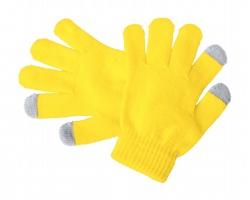 Dětské zimní rukavice PIGUN pro ovládání dotykových obrazovek - žlutá / šedá