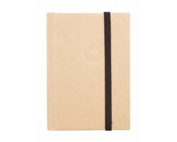 Linkovaný poznámkový blok ANAK z recyklovaného papíru - přírodní / černá