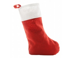 Polyesterová vánoční punčocha SASPI - červená / bílá