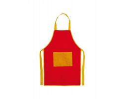 Dětská kuchařská zástěra NONO z netkané textilie - červená / žlutá