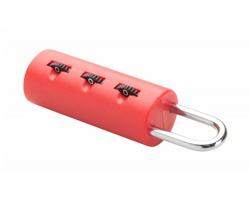 Plastový zámek na zavazadla IKUN - červená
