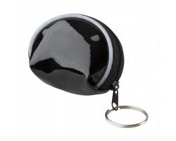 Plastová peněženka DYNA s kroužkem na klíče - černá