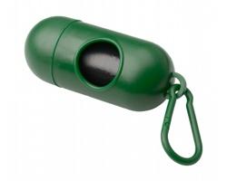 Plastový zásobník na pytle na psí exkrementy YOAN - zelená