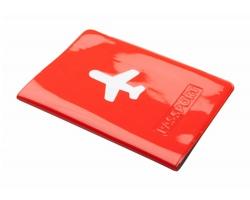 Plastové pouzdro na pas KLIMBA - červená