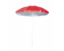 Plážový slunečník TANER s UV ochranou - červená / bílá