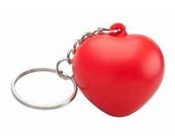 Antistresové srdíčko SILENE s kroužkem na klíče - červená