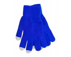 Zimní rukavice ACTIUM pro ovládání dotykových displejů - modrá / šedá