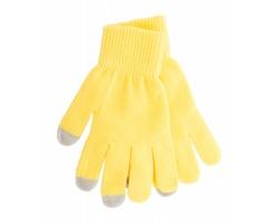 Zimní rukavice ACTIUM pro ovládání dotykových displejů - žlutá / šedá