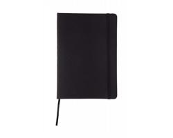 Poznámkový blok CILUX s deskami z PU kůže - černá