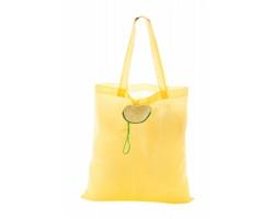 Polyesterová skládací nákupní taška VELIA - žlutá