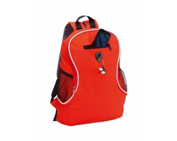 Polyesterový batoh HUMUS s otvorem na kabel - červená
