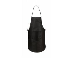 Kuchařská zástěra VANUR z netkané textilie - černá