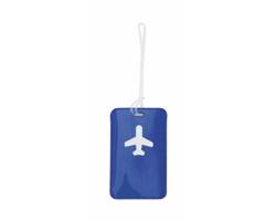 Plastová visačka na zavazadla RANER - modrá