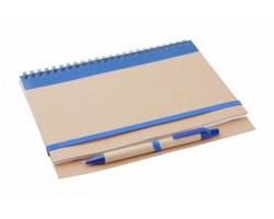 Poznámkový blok TUNEL z recyklovaného papíru - modrá / přírodní