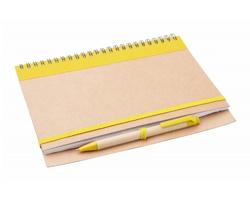 Poznámkový blok TUNEL z recyklovaného papíru - žlutá / přírodní