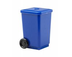 Plastové ořezávátko LONGI ve tvaru popelnice - modrá