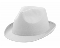 Polyesterový barevný klobouk BRAZ - bílá