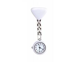 Analogové lékařské hodinky ANIA s kovovým řetízkem - bílá