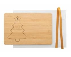 Bambusové vánoční přání BOOCARD - stromek