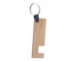 Přívěsek na klíče s bambusovým stojánkem telefonu RUFA - přírodní