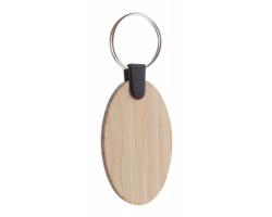 Bambusový přívěsek na klíče BAMBRY - ovál