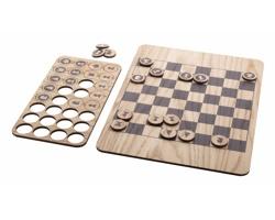 Dřevěné šachy BENKO - přírodní / černá